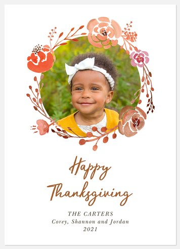 Autumn Wreath Thanksgiving Cards