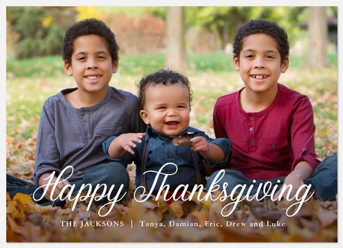 Script Overlay Thanksgiving Cards
