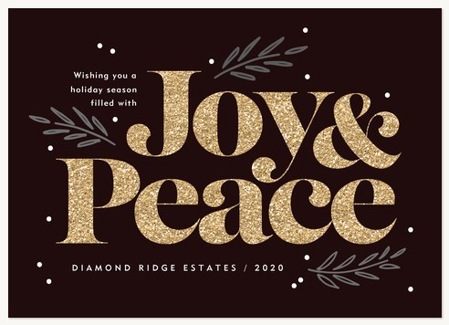 Boldest Glitter Business Holiday Cards