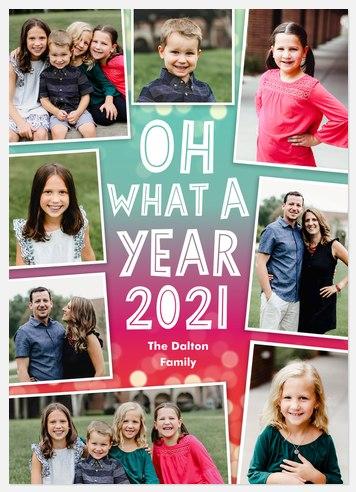 Vibrant Year Holiday Photo Cards