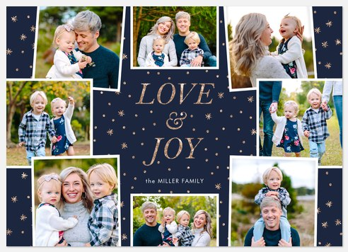 Starry Joy Holiday Photo Cards