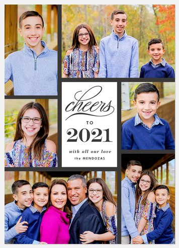 New Year Cheer Holiday Photo Cards