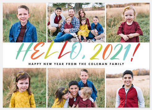 Hello Rainbow Holiday Photo Cards