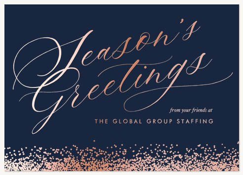 Snowfall Greetings Business Holiday Cards