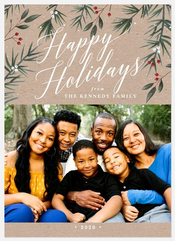 Berry Botanicals Holiday Photo Cards