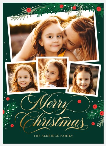 Pinewood Berries Holiday Photo Cards