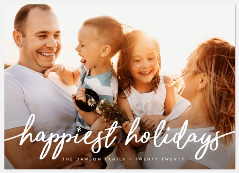 Just Written Holiday Photo Cards