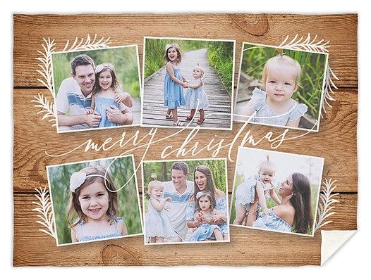 Rustic Snapshots Custom Blankets