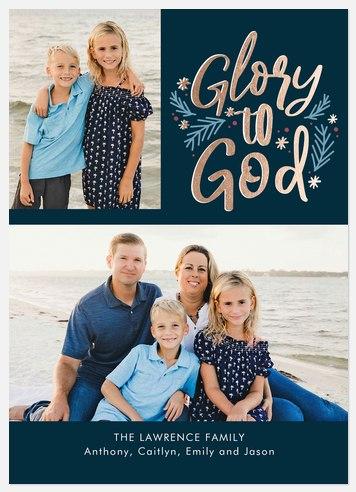 Laureled Glory Holiday Photo Cards