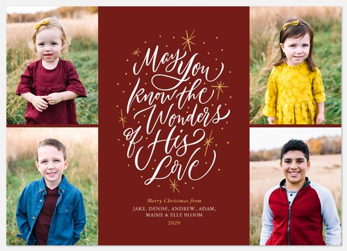 Sparkling Wonders Holiday Photo Cards