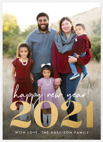 Gilded Year Holiday Photo Cards