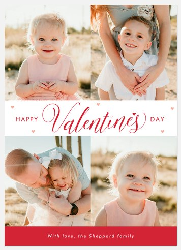 Script Whimsy Valentine Photo Cards