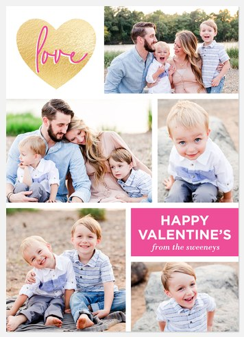 Love Grid Valentine Photo Cards