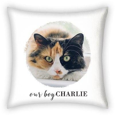 Brushed Circle Custom Pillows