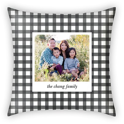 Gingham Check Custom Pillows