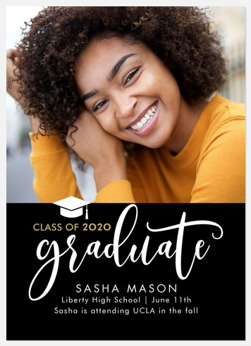 Grand Script Graduation Cards