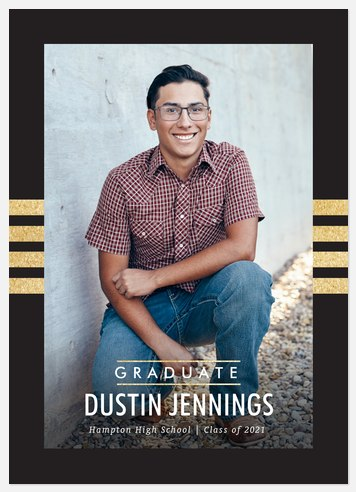 Collegiate Stripes Graduation Cards