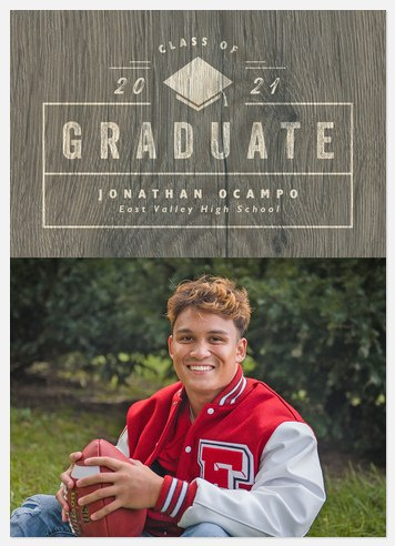 Stamped Wood Graduation Cards