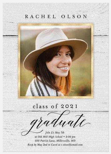 Luxe Woodgrain Graduation Cards