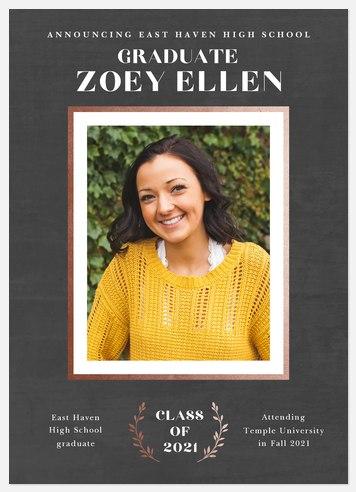 Woodgrain Frame Graduation Cards