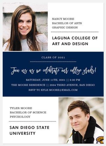 College Duo Graduation Cards