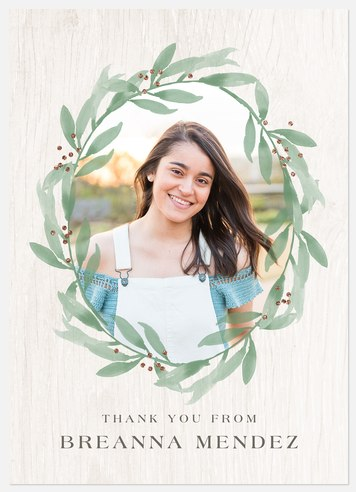 Watercolor Foliage Thank You Cards
