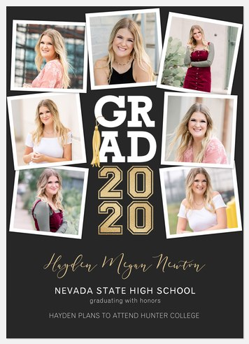 Grad Tassel Collage Graduation Cards