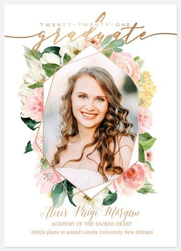 Modern Floral Graduation Cards