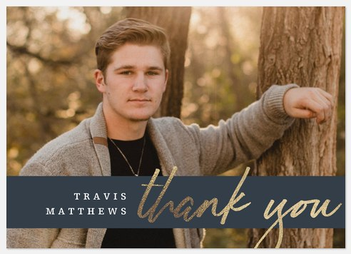 Graduate Band Thank You Cards