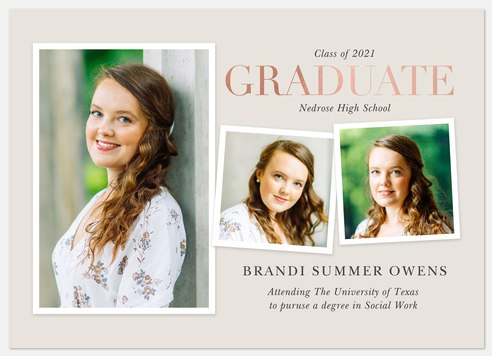 Shimmering Collage Graduation Cards
