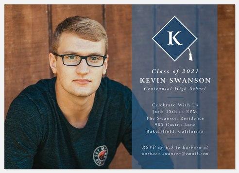 Cap Monogram Graduation Cards