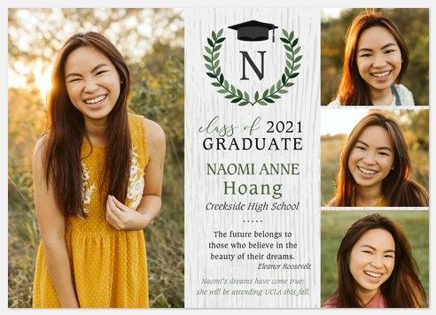 Rustic Emblem Graduation Cards