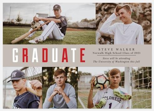 Multicolored Prep Graduation Cards