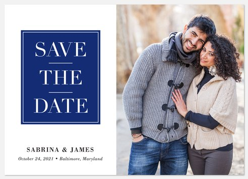 Bold Block Save the Date Photo Cards