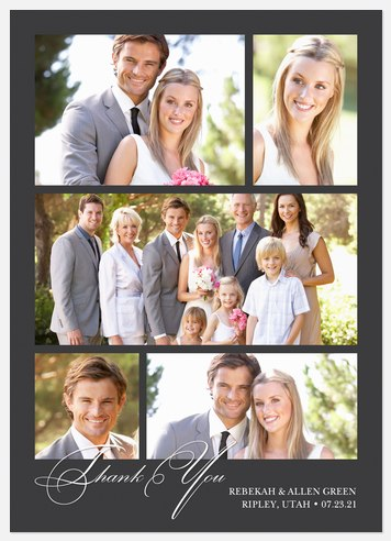 Wedding Collage Thank You Cards