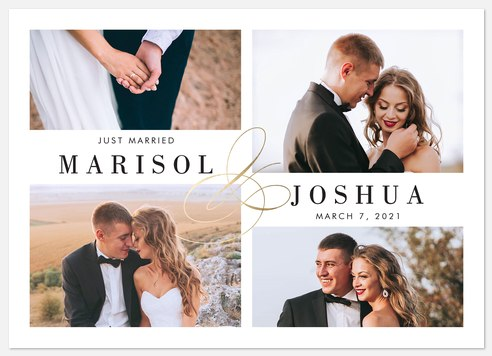 Elegant Collage Wedding Announcements
