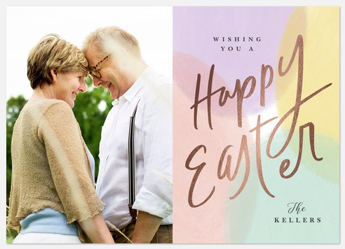 Spring Pastels Easter Photo Cards
