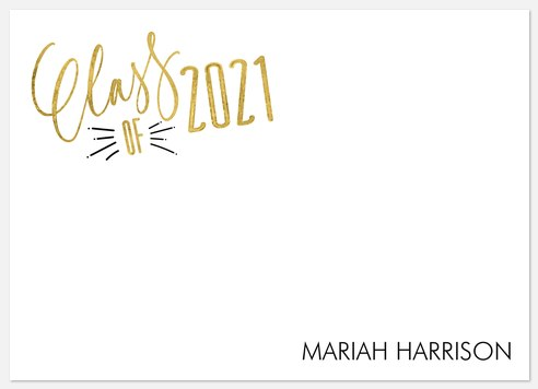 Good As Gold Thank You Cards