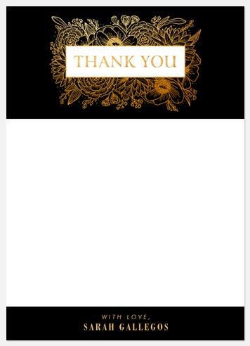 Gardenesque Thank You Cards