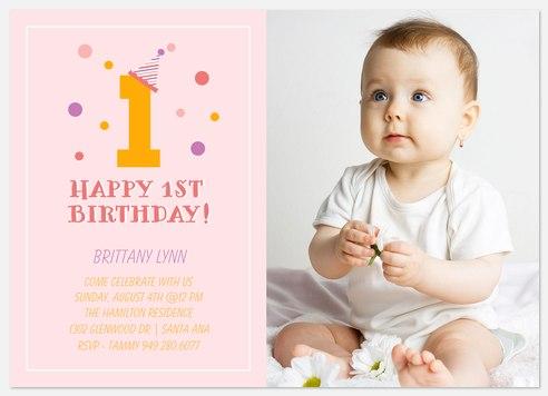 Confetti Bubbles Kids' Birthday Invitations