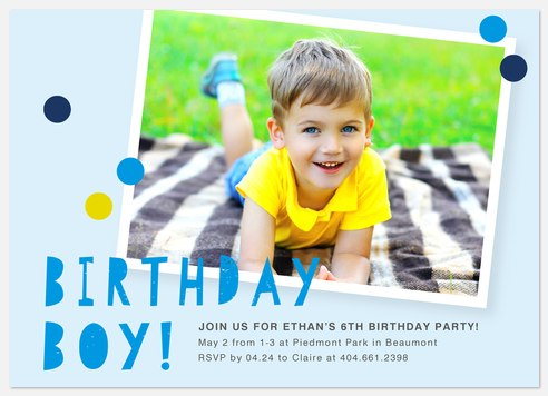 Snapshot Memory Kids' Birthday Invitations