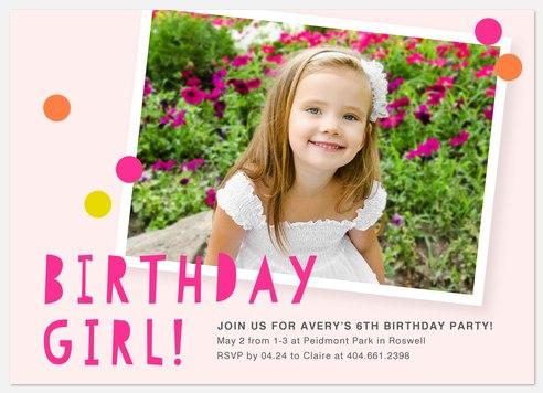 Snapshot Memory Kids' Birthday Invitations