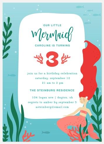 Our Mermaid Kids' Birthday Invitations