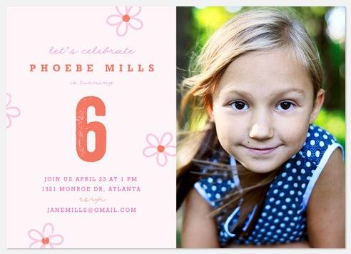 Sweet Blossoms Kids' Birthday Invitations