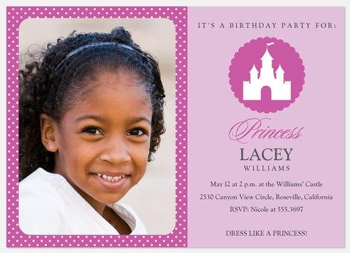 Princess Castle Kids' Birthday Invitations