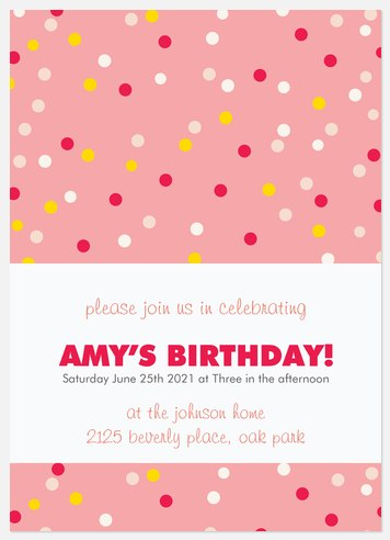 Candy Confetti Kids' Birthday Invitations