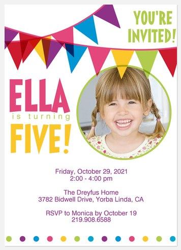 Her Flag Day! Kids' Birthday Invitations
