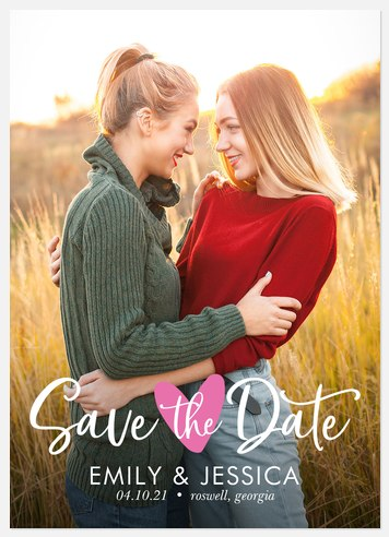 Sweet Heart Save the Date Photo Cards
