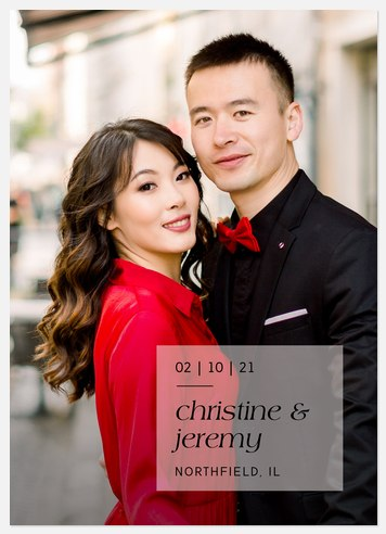 Square Overlay Save the Date Photo Cards