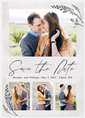 Delicate Branches Save the Date Photo Cards